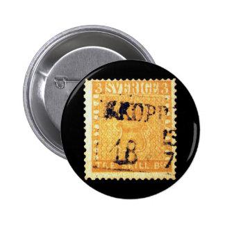 Amarillo de Treskilling de Suecia Sverige sello de Pins