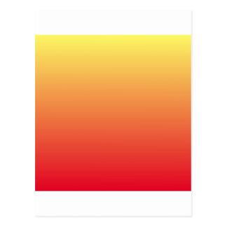 Amarillo de Unmellow a la pendiente horizontal Tarjeta Postal