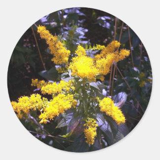 Amarillo de Unmellow Pegatina Redonda