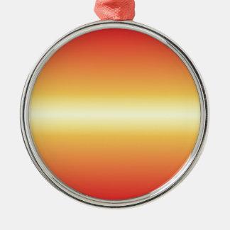 Amarillo de Unmellow y rojo horizontales del Adorno Redondo Plateado