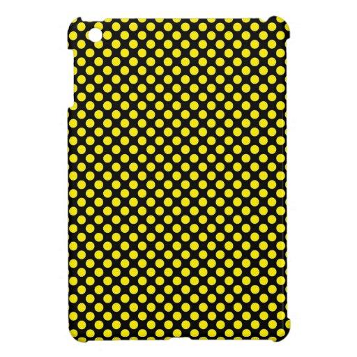 Amarillo del abejorro en pequeño lunar negro iPad mini carcasa
