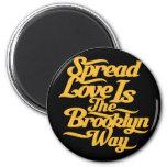 Amarillo del amor de Brooklyn Imán Para Frigorifico