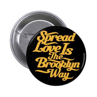 Amarillo del amor de Brooklyn Pin Redondo 5 Cm