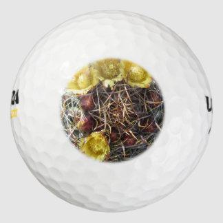 Amarillo del anzuelo de la planta del cactus de pack de pelotas de golf