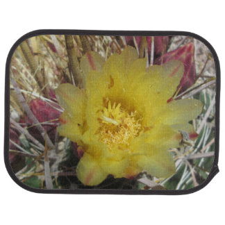 Amarillo del anzuelo del cactus de barril alfombrilla de auto