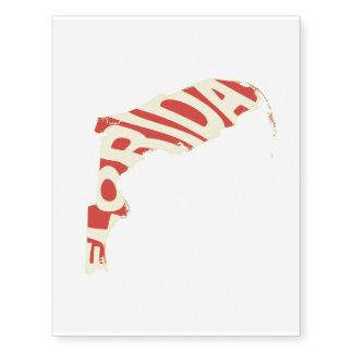 Amarillo del arte de la palabra del nombre del tatuajes temporales