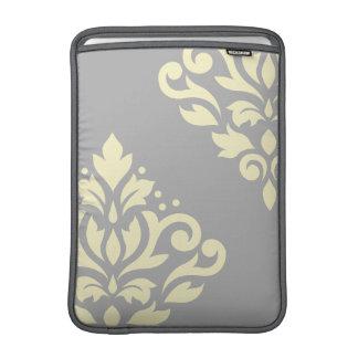 Amarillo del arte I del damasco de la voluta en Funda Macbook Air