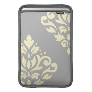 Amarillo del arte I del damasco de la voluta en Fundas Para Macbook Air