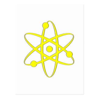 amarillo del átomo postales