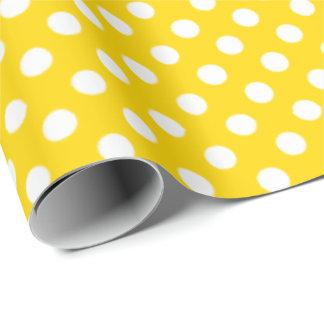 Amarillo del autobús escolar del lunar papel de regalo