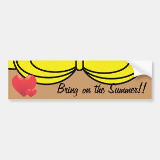 Amarillo del bikini pegatina para auto