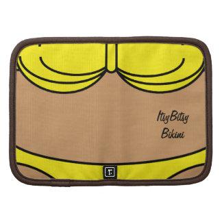 Amarillo del bikini planificadores