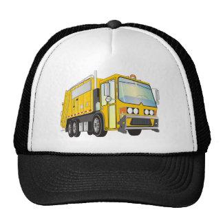 amarillo del camión de basura 3d gorras