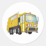 amarillo del camión de basura 3d pegatina