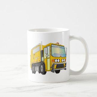amarillo del camión de basura 3d taza de café