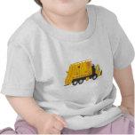 Amarillo del camión de la basura camisetas