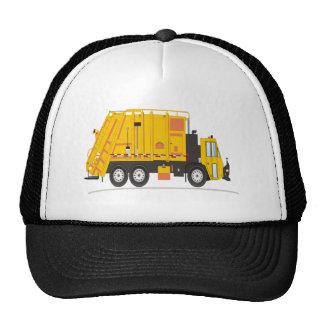 Amarillo del camión de la basura gorro de camionero