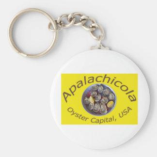 Amarillo del capital de la ostra de Apalachicola Llavero Personalizado