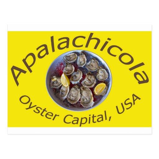 Amarillo del capital de la ostra de Apalachicola Postales