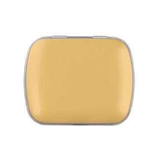 Amarillo del caramelo - plantilla amarilla del frascos de caramelos