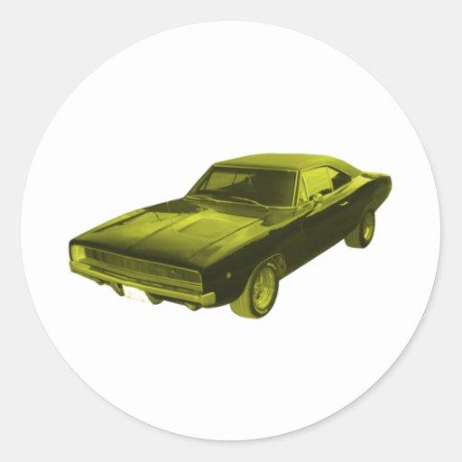 amarillo del cargador de 1968 regates pegatina
