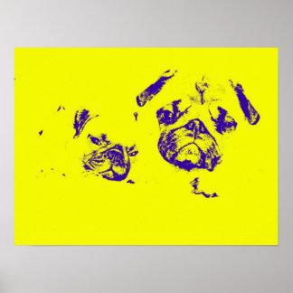 Amarillo del cartel del barro amasado y del bebé posters