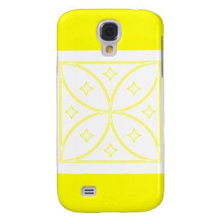 Amarillo del caso de Iphone 3 de las estrellas de