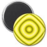 amarillo del círculo iman de frigorífico