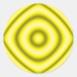 amarillo del círculo pegatinas redondas