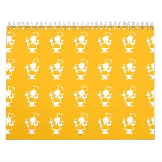 Amarillo del cocinero calendario de pared