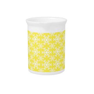 Amarillo del copo de nieve 17 jarra de beber
