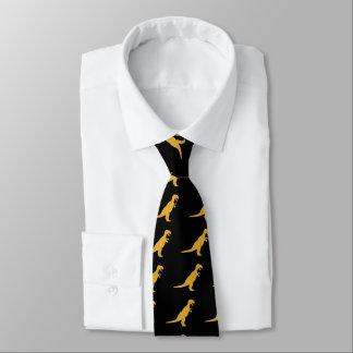 Amarillo del dinosaurio corbatas personalizadas