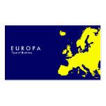 Amarillo del EUROPA - azul marino Plantillas De Tarjetas De Visita