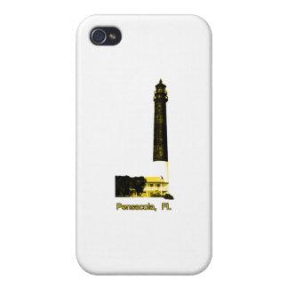 Amarillo del faro de Pensacola FL el MUSEO Zazzle iPhone 4/4S Funda