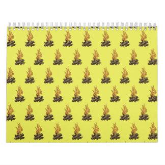 Amarillo del fuego calendario