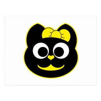 Amarillo del gatito de KiKi Postal
