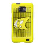 Amarillo del gatito de Techi Samsung Galaxy SII Carcasa