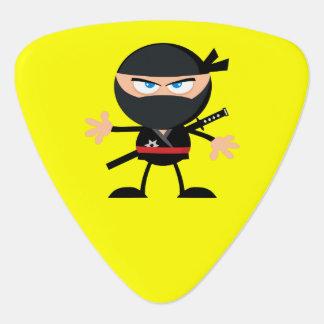 Amarillo del guerrero de Ninja del dibujo animado Púa De Guitarra
