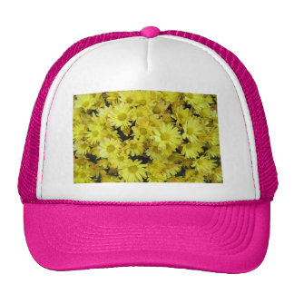 Amarillo del jardín del racimo del crisantemo gorra