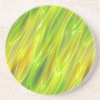 Amarillo del líquido posavasos personalizados