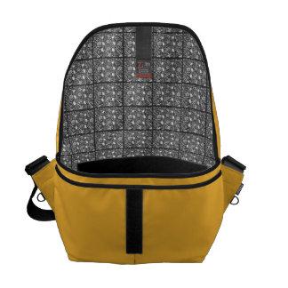 Amarillo del llano con el interior fino del damasc bolsa de mensajeria
