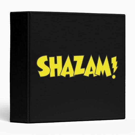 "Amarillo del logotipo de Shazam Carpeta 1 1/2"""