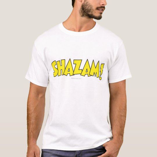 Amarillo del logotipo de Shazam Playera