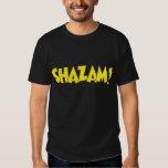 Amarillo del logotipo de Shazam Playeras