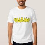 Amarillo del logotipo de Shazam Polera