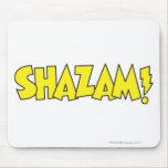 Amarillo del logotipo de Shazam Tapetes De Raton
