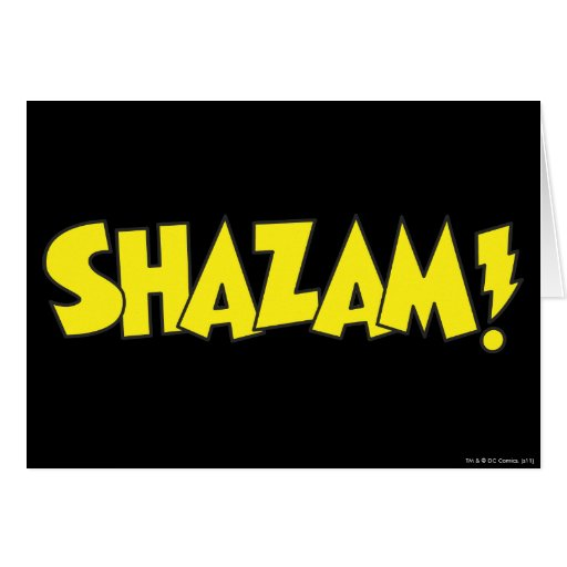 Amarillo del logotipo de Shazam Tarjeta