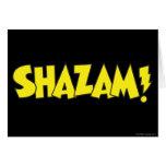 Amarillo del logotipo de Shazam Tarjeta De Felicitación