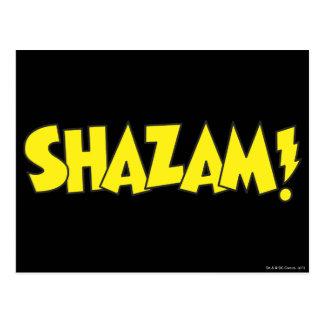 Amarillo del logotipo de Shazam Tarjetas Postales