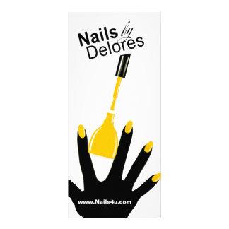 Amarillo del menú de la cupón del PEDICURE de la M Diseño De Tarjeta Publicitaria